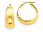 14k Polished 10.5mm Tapered Hoop Earrings Style number: E674
