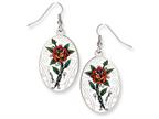 Ed Hardy Oval Rose Painted Earrings Style number: EHF105