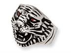 Stainless Steel Ed Hardy Roaring Tiger w/Red CZ Eyes Ring Style number: EHF125