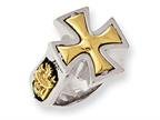 Stainless Steel Ed Hardy Bronze Maltese Cross Ring Style number: EHF126