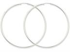 14k White Gold 2mm Polished Endless Hoop Earrings Style number: H1000