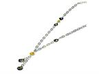 Sterling Silver Multi Murano Glass Bead Necklace Style number: MUR55