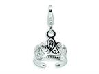 Amore LaVita Sterling Silver 3-D Swarovski Crystal Tiara w/Lobster Clasp Bracelet Charm Style number: QCC112