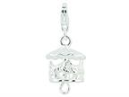 Amore LaVita Sterling Silver Antiqued Moveable Carousel w/Lobster Clasp Charm (Moveable) for Charm Bracelet Style number: QCC172
