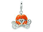 Amore LaVita Sterling Silver 3-D Enameled Carriage w/Lobster Clasp Bracelet Charm Style number: QCC187