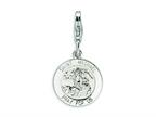 Amore LaVita Sterling Silver Saint Michael Medal w/Lobster Clasp Bracelet Charm Style number: QCC500