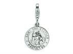 Amore LaVita Sterling Silver St. Christopher Medal w/Lobster Clasp Bracelet Charm Style number: QCC504