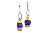 Sterling Silver Purple Cubic Zirconia Earrings Style number: QE4335
