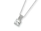 Sterling Silver Cubic Zirconia On 18 Chain Necklace Style number: QG1018