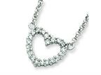 Sterling Silver Cubic Zirconia Heart Pendant W/chain - Chain Included Style number: QH764