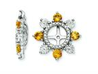 Sterling Silver Citrine Earring Jackets Style number: QJ110NOV