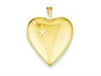 1/20 Gold Filled 20mm Diamond Heart Locket - Chain Included Style number: QLS275