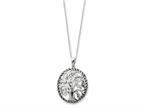 Sentimental Expressions(tm) Sterling Silver Antiqued Tree of Life 18 Inch Necklace Style number: QSX126