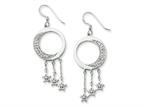 Sentimental Expressions(tm) Sterling Silver and CZ I Promise You the Moon and Stars Dangle Earrings Style number: QSX209