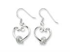 Sentimental Expressions(tm) Sterling Silver and CZ Loveknots Dangle Earrings Style number: QSX213