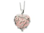 Sentimental Expressions(tm) Sterling Silver and Rose Quartz Generous Heart 18 Inch Necklace Style number: QSX263