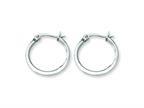 Chisel Stainless Steel 16mm Diameter Hoop Earrings Style number: SRE112