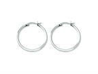 Chisel Stainless Steel 30mm Diameter Hoop Earrings Style number: SRE115