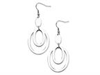 Chisel Stainless Steel Fancy Oval Dangle Earrings Style number: SRE158