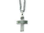 Chisel Stainless Steel Cross Necklace Style number: SRN105