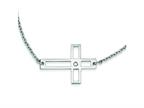 Stainless Steel Cross Cut Out Sideways Cross Necklace Style number: SRN1194