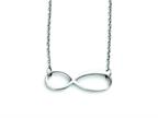 Stainless Steel Infinity Symbol Polished Necklace Style number: SRN1289