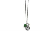 Chisel Stainless Steel Antiqued With 2in Extension Synthetic Jade Necklace Style number: SRN131020