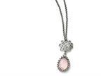 Chisel Stainless Steel Polished Rose Quartz W/2in Ext. Necklace Style number: SRN152718