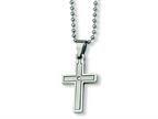 Chisel Stainless Steel Diamond Accent Cross Necklace - 22 inches Style number: SRN170
