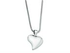 Chisel Stainless Steel Heart Pendant Necklace - 18 inches Style number: SRN244