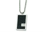 Chisel Stainless Steel and Stingray Patterned with Diamond Necklace - 24 inches Style number: SRN356