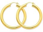 14k Polished 5mm Tube Hoop Earrings Style number: T960