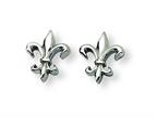 Chisel Titanium Fleur de Lis Earrings Style number: TBE100
