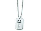 Chisel Tungsten Dog Tag with Key Cut - 22 inches Style number: TUN111