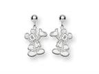 Disney Waving Mickey Dangle Post Earrings Style number: WD105SS