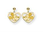 Disney Mickey Heart Dangle Post Earrings Style number: WD107GP