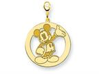 Disney Waving Mickey Lobster Clasp Charm Style number: WD113GP