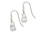 Disney Winnie the Pooh Dangle Wire Earrings Style number: WD165SS