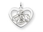 Disney Ariel Heart Charm Style number: WD240SS