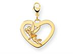 Disney Tinker Bell Heart Lobster Clasp Charm Style number: WD263Y