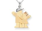 The Kids Big Boy and Little Girl Engraveable Charm / Pendant Style number: XK638
