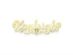 Personalized Disney Cinderella Nameplate (up to 9 Letters) - Chain Included Style number: XNA488GP