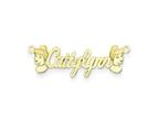 Personalized Disney Cinderella Nameplate (up to 9 Letters) - Chain Included Style number: XNA489GP
