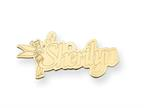 Personalized Disney Tinker Bell Nameplate (up to 9 Letters) - Chain Included Style number: XNA495GP