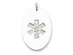 Sterling Silver Non-enameled Medical Jewelry Pendant - Chain Included Style number: XSM63N