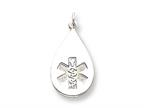 Sterling Silver Medical Jewelry Non-enameled Pendant - Chain Included Style number: XSM86N
