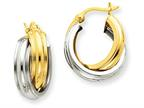 14k Two-tone Polished Double Hoop Earrings Style number: Z759