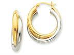 14k Double Hoop Earrings Style number: Z797