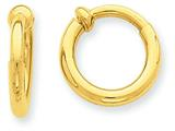 14k Non-pierced Hoop Earrings style: E658