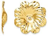 14k Polished Floral Earring Jackets style: E891J
